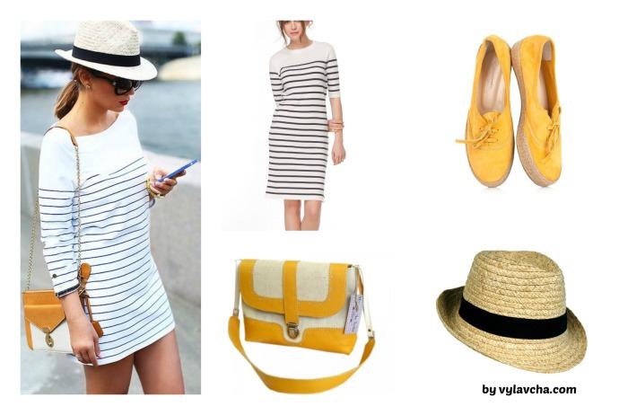 striped dress fin
